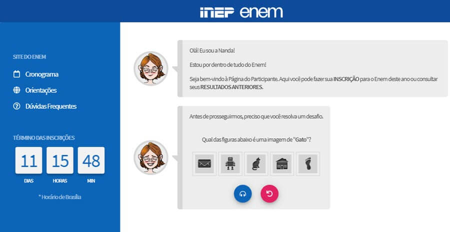 Site do INEP - ENEM